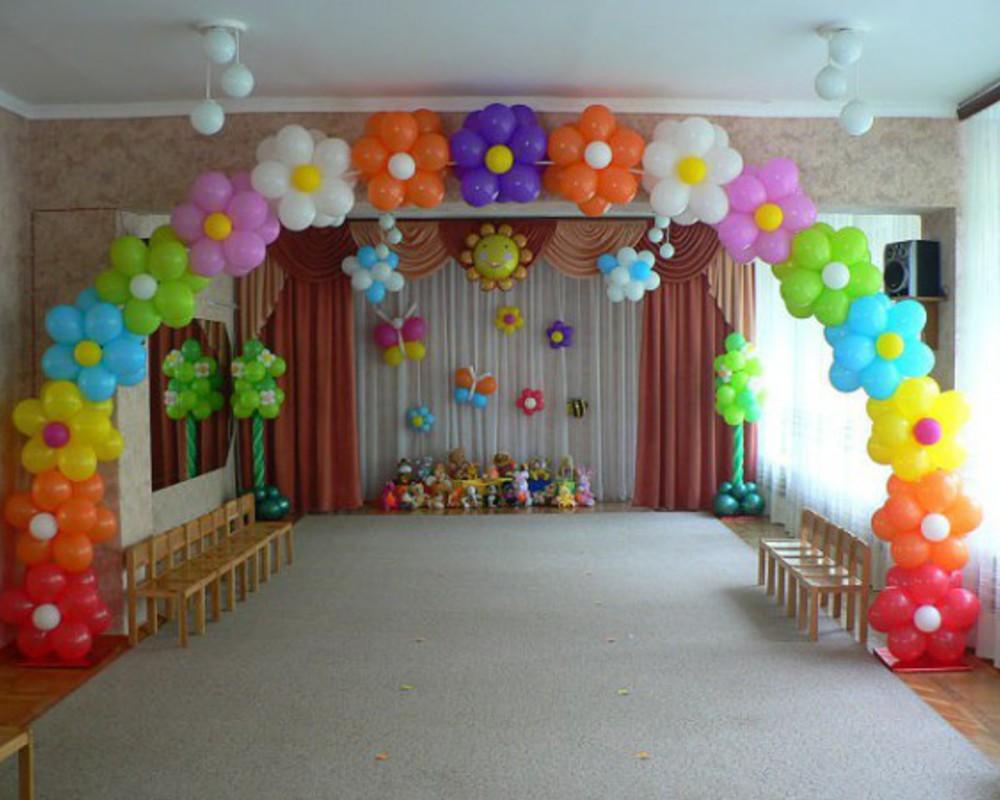 Оформление шарами залов